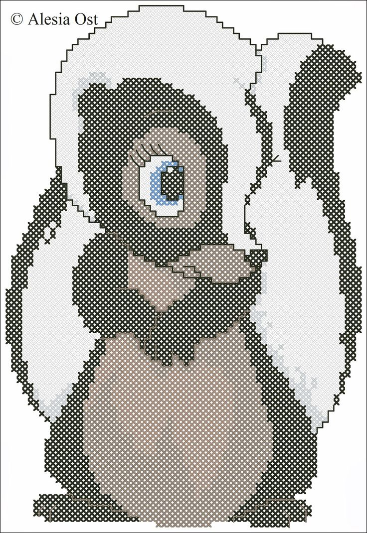 Cross stitch Flower from Bambi... no color chart available, just use pattern chart as your color guide.