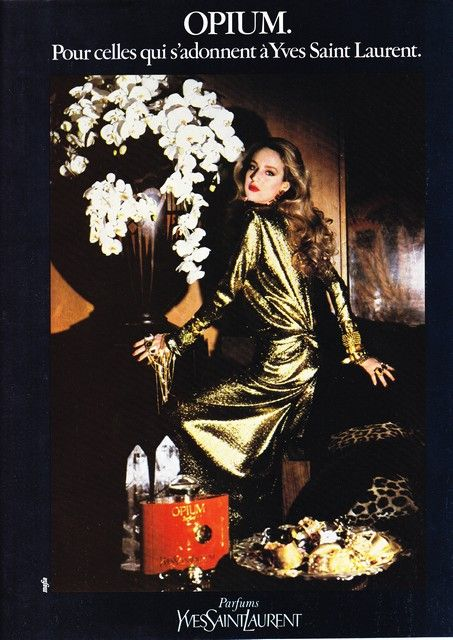 love this ad from 1976... Jerry Hall and the famous Opium... WOW