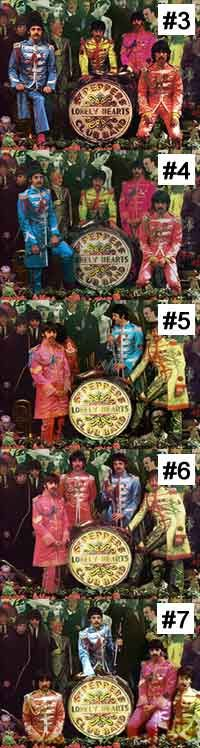 Sgt Pepper Album Cover photo session, shots 3 to 7.
