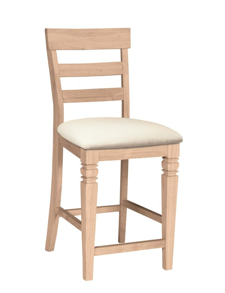 Bear Naked Unfinished Furniture ® Unfinished Bar Stools