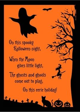 This Is A Real Card (not An E Card). Halloween Poem Card To Send To Your  Friends This