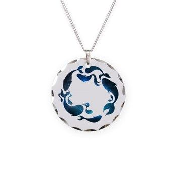 Aquatic Galaxy Charm Necklace from cafepress store: AG Painted Brush T-Shirts. #necklace #galaxy #fish
