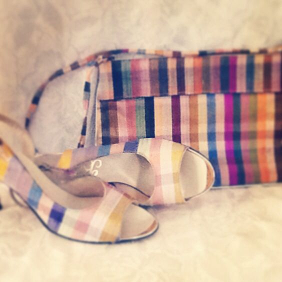 Babette shoes with matching clutch