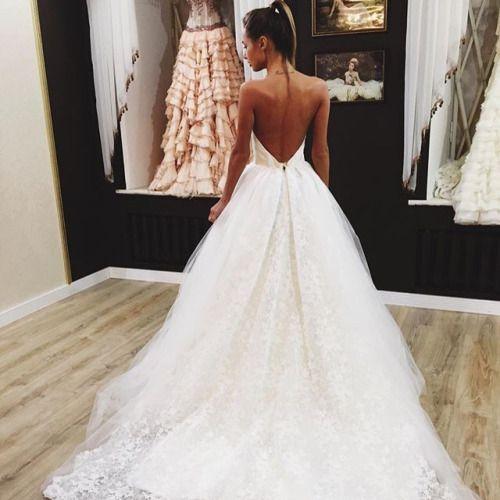 beautiful low back wedding dress