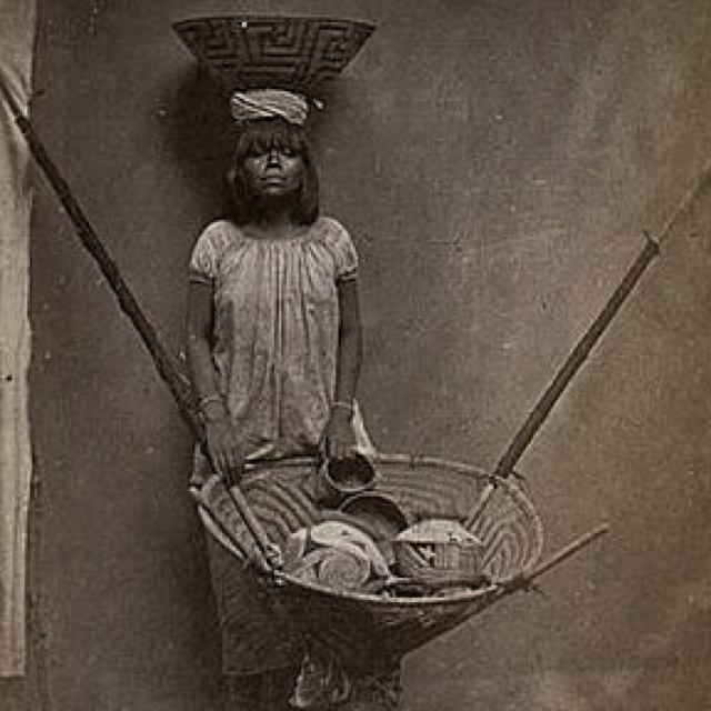 Pima Indian Basket Weaver 1900 Arizona
