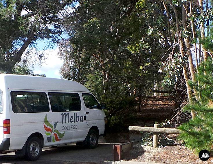 Toyota Hiace Van, School Bus Graphics, Melba College, Bus Wrap