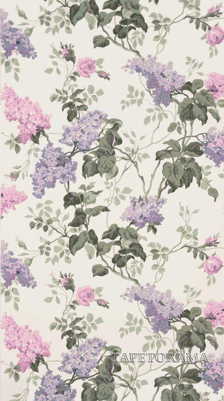 Tapet 75174: Sommerville Pink/White från Sanderson - Tapetorama