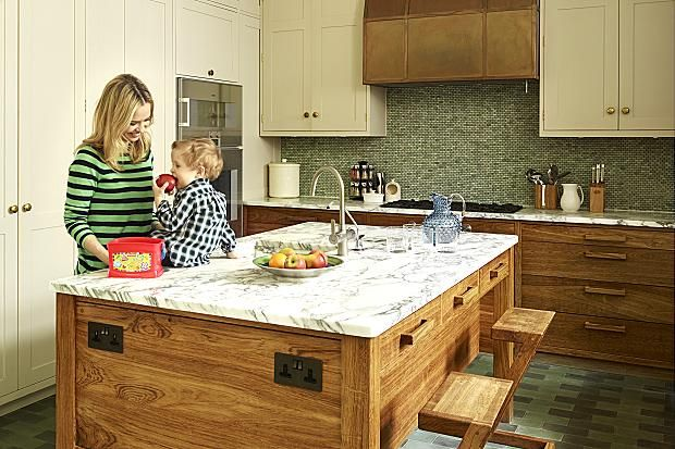 Marissa Hermer with son Jake in the kitchen. Photographed by Darren Chung