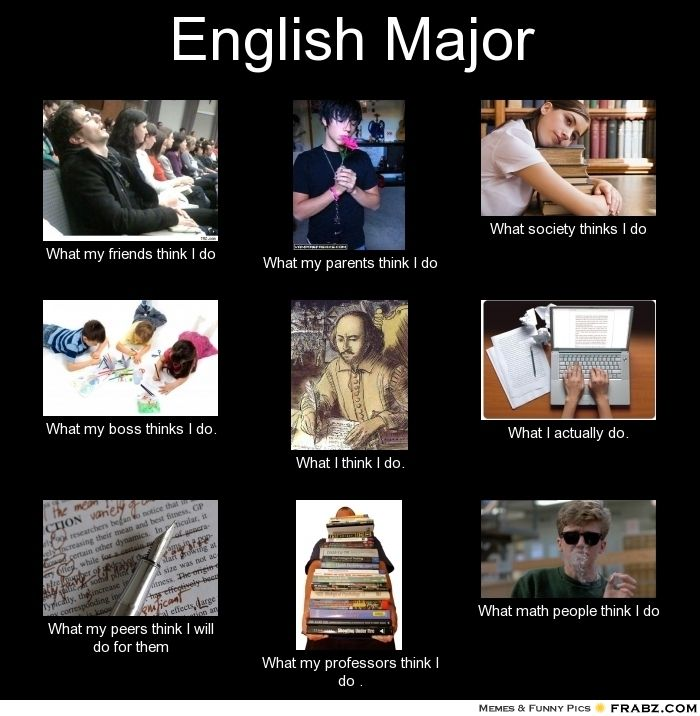 Image result for memes english majors