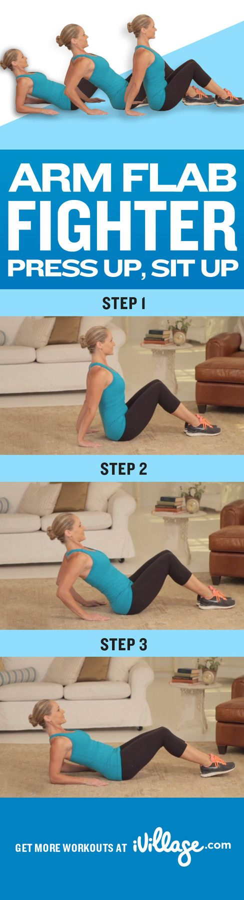 Simple exercises to tone your arms. #workout http://www.ivillage.com/simple-arm-exercises-fight-flab/4-h-489481?cid=pin|workout|armflabfighter|12-12-12