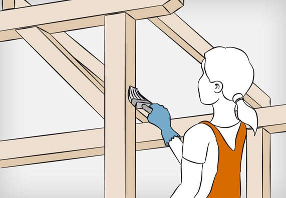 Dachkonstruktion Aus Holz Bauen Dachkonstruktion Dachbau Holzuberdachung
