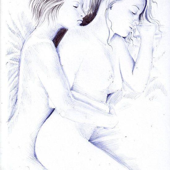 Two lesbian girls sleeping together
