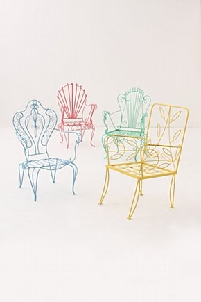 Flores Lawn Chairs ... Pink Twine: Anthropologie ... Pink Twine is my favorite!