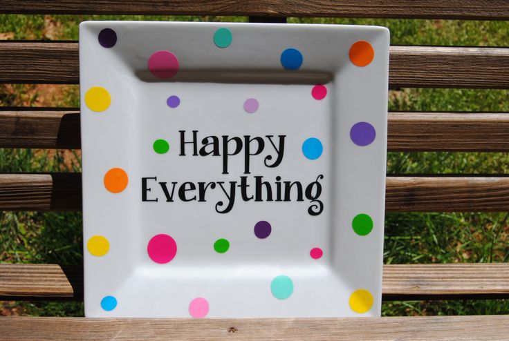 Happy Everything Decorative Plate - pinned by pin4etsy.com