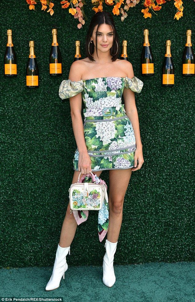 d7cd2c09bbe6 Leggy Kendall Jenner accidentally flashes her UNDERWEAR in mini-dress