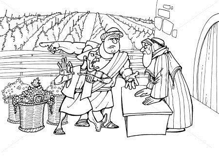 dagloners in de wijngaard bijbel kleurplaten wijngaard