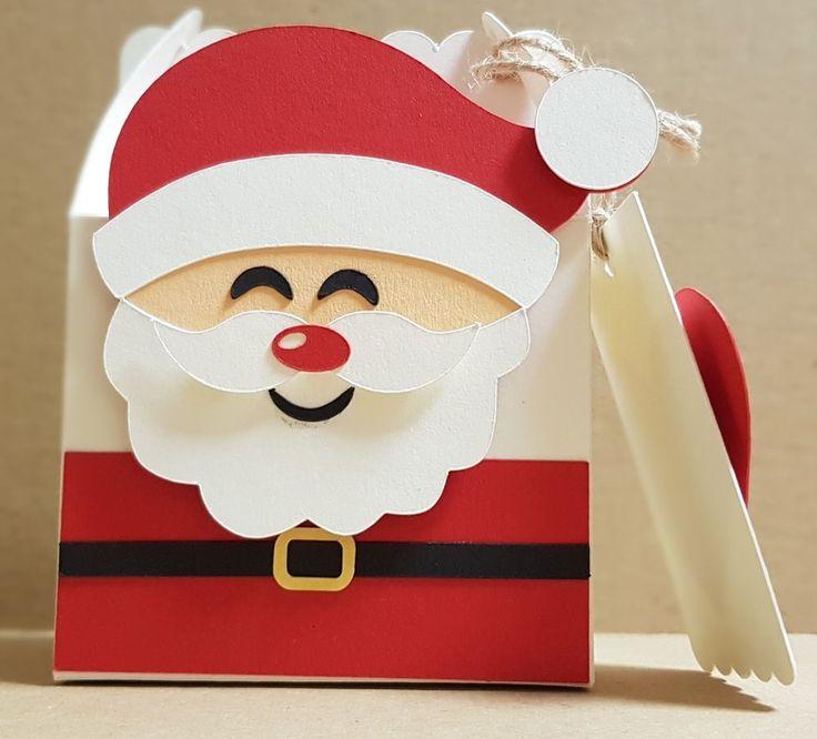 *Geschenkbox*Weihnachten*Gable Box*Weihnachtsmann*Handgemacht*