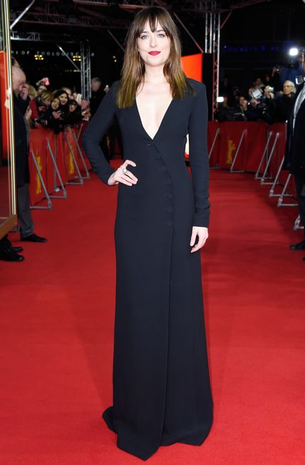 Dakota Johnson's Red Carpet Style - In Dior, 2015 - from InStyle.com
