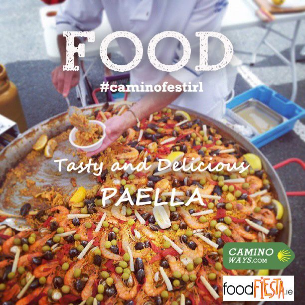 who fancies paella? Jaime from FoodFiesta.ie will be cooking at the CaminoWays.com Walking Festival - Sunday 27th July in Roundwood #Wicklow #Ireland #walking #caminofestirl