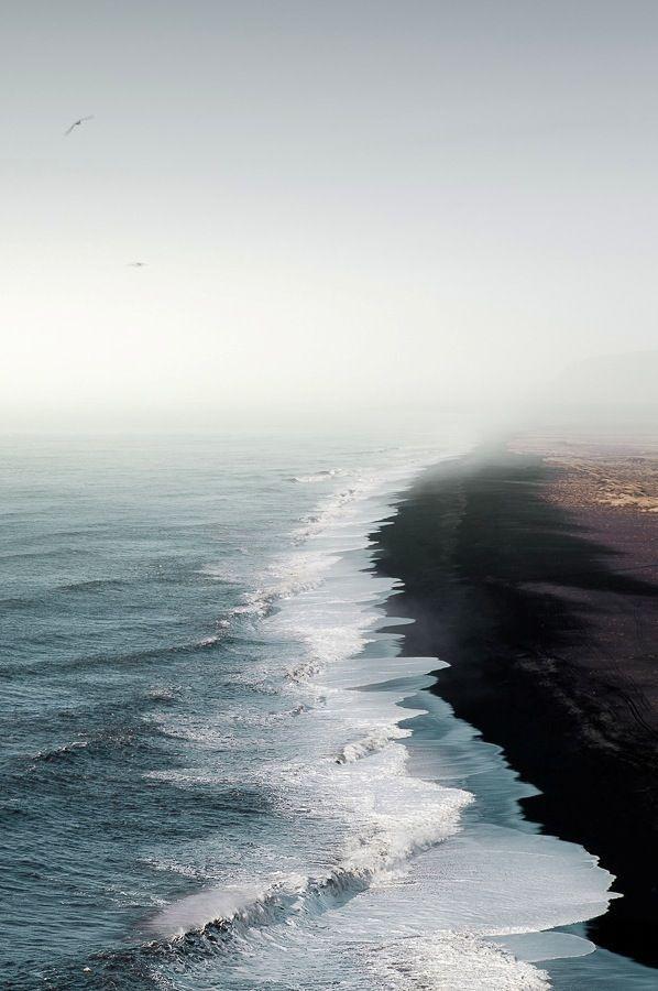 {dark sand beaches}
