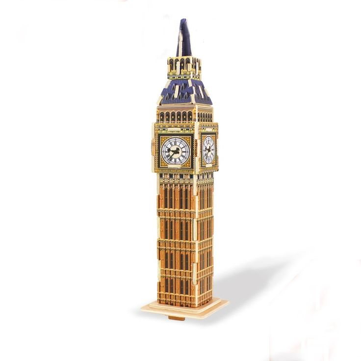 Best 3D Wooden London Big Ben Building Puzzle Toys for Kids for sale at Oitems.com