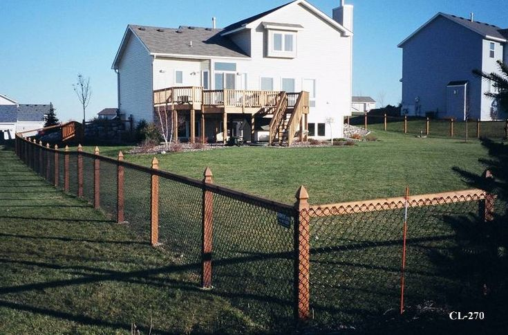 california chain link fence | View examples of California style chain link fences installed in Twin ...