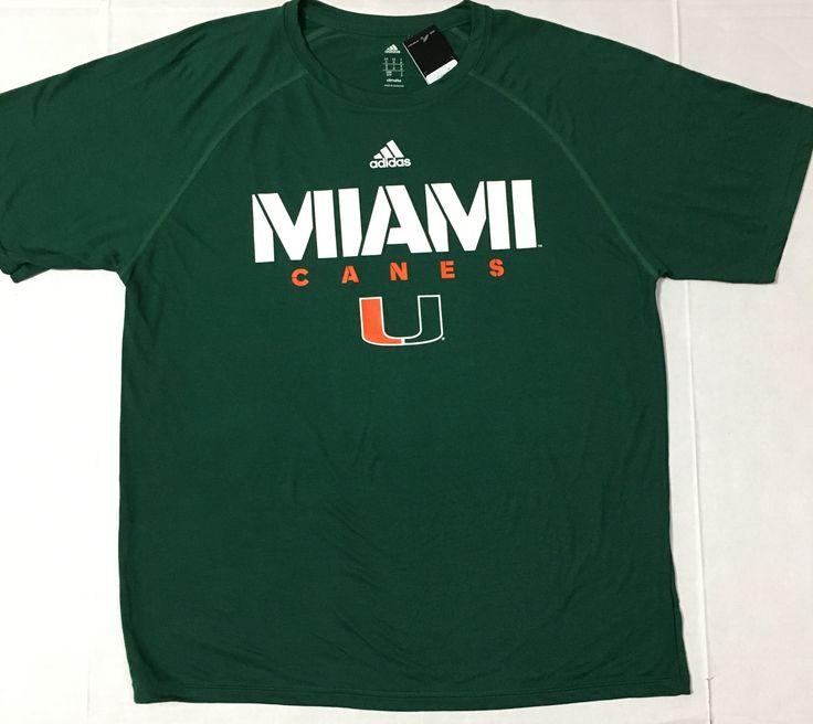 Miami Hurricanes adidas Climalite Sideline T-Shirt - Green