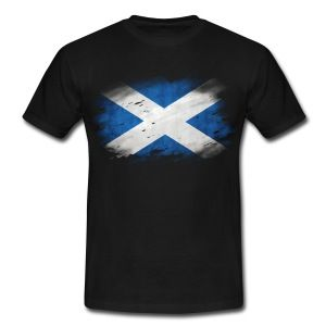 Schottland Flagge Used Look T-Shirts