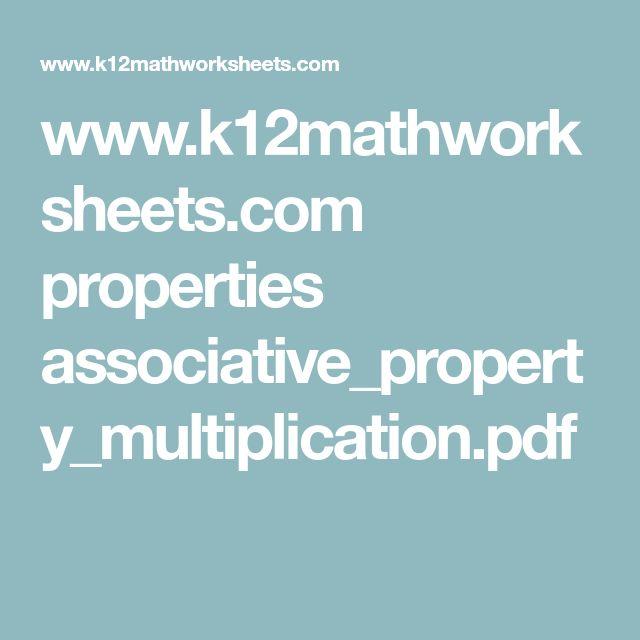 www.k12mathworksheets.com properties associative_property_multiplication.pdf