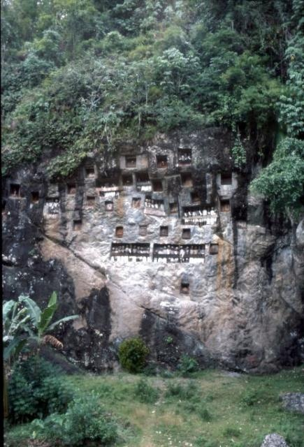 indonesian cliff tombs