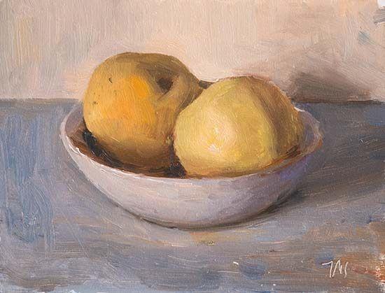 Two apples in a bowl Julian Merrow-Smith 11-11-16