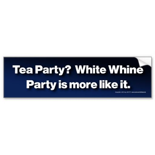 White whine party bumper sticker