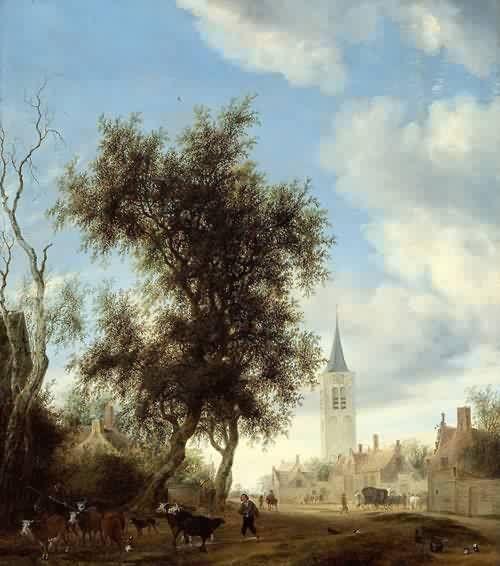Salomon van Ruysdael (Dutch, c. 1600 - 1670) - View of Beverwijk,1646