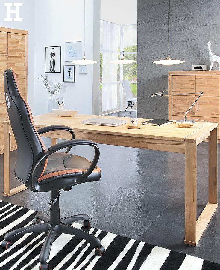 Massivholz Schreibtisch Oslo