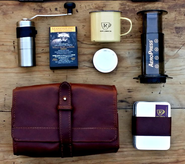 Deluxe Coffee Travel Kits .Available with various component options, we can also personalise with branding on request info@kopiluwaksouthafrica .Comes with 100% Wild Kopi Luwak, grinding and brewing guide, story of Wild Kopi Luwak, Certificate of Origin.....this product is also Halal certified