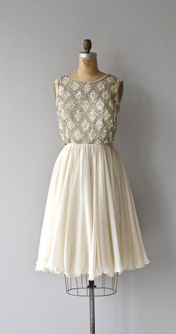 Looking Glass dress vintage beaded 60s dress by DearGolden
