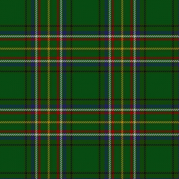 Tartan image: Irish American. Click on this image to see a more detailed version.