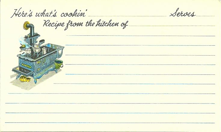 Free Recipe Card Templates  This Summer I Found A Recipe Card Box