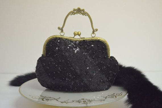 Hey, I found this really awesome Etsy listing at https://www.etsy.com/il-en/listing/249297543/black-beads-clutch-evening-clutch-black