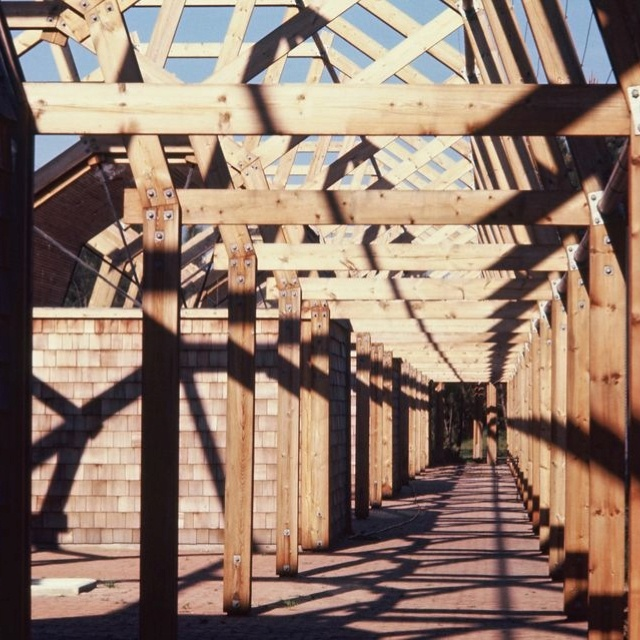 Outside wooden structure