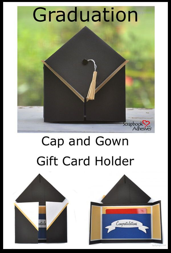 Graduation Cap and Gown Card with a Flip!