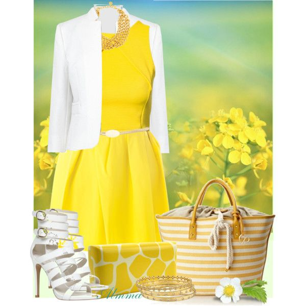 50 best Yellow Dress Outfits images on Pinterest   Yellow dress ...