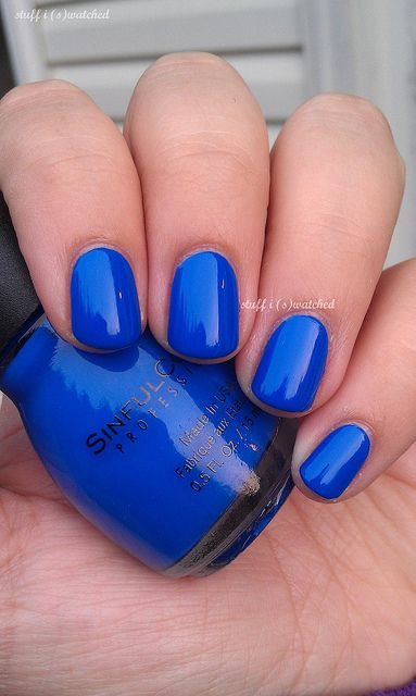 stuff i swatched: Heaven to me: Sinful Colors Endless Blue
