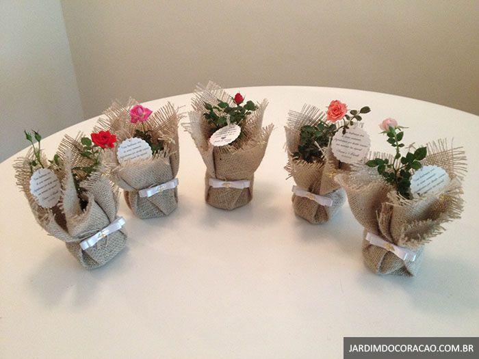 Mini rosas - Lembrancinhas ecológicas que encantam