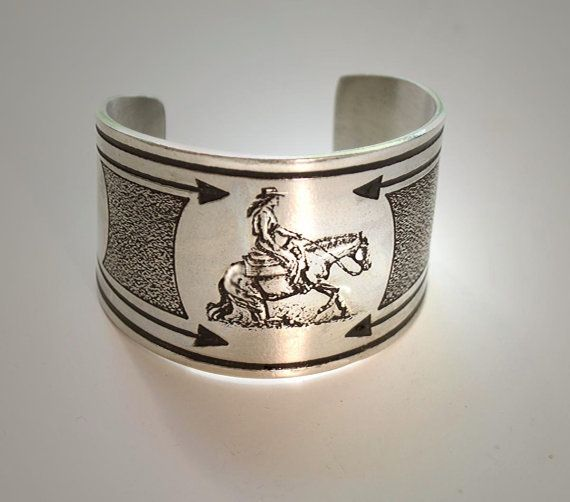 Western Reining Horse bracelet by HorseLadyGifts on Etsy, $28.99