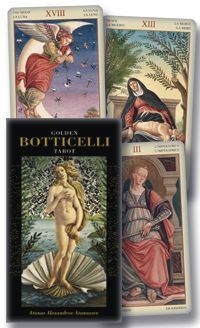 This is one of my top choices!  Golden Botticelli Tarot Cards, $26.96 at Amazon.    I need a new Tarot deck and Botticelli is one of my favorite artists, this is perfect! And according to tradition, you cannot buy tarot cards yourself; rather they must be given to you bu someone who loves you. :)