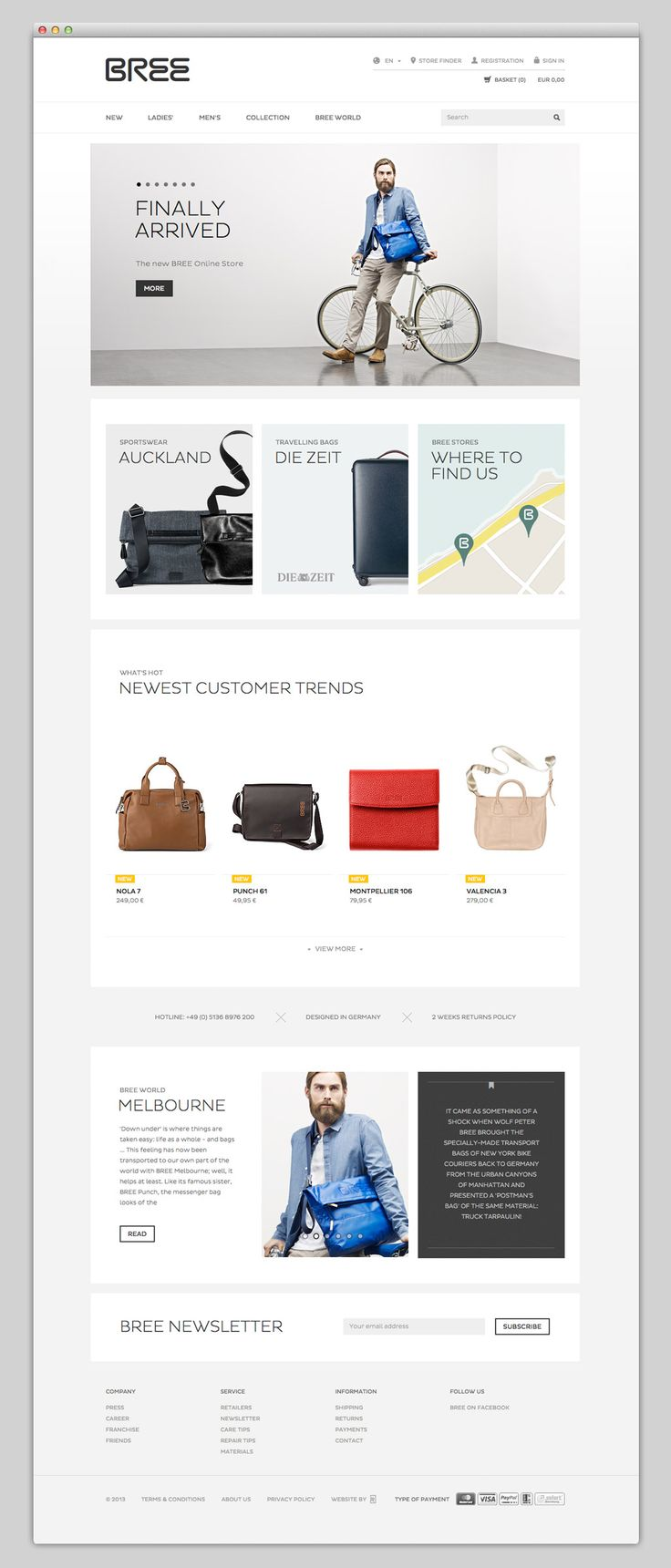 Bree + grid + modern #webdesign