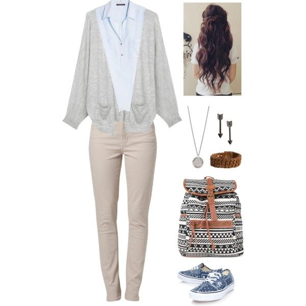 """cute school outfit for uniform"" by senaidah on Polyvore"