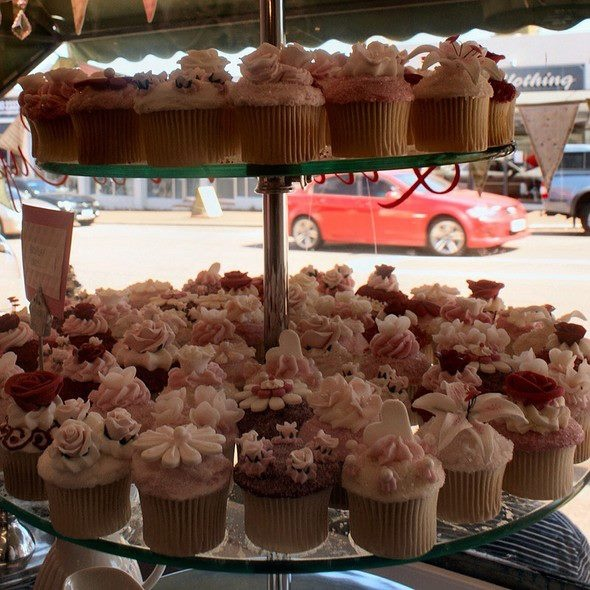 Cupcake display @ Little Miss Cupcake, Perth, Australia...