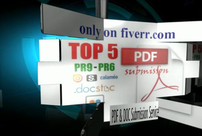 I will offer premium PDF Submission service, manually for $5 #SaltLakeCity #Utah #SEO